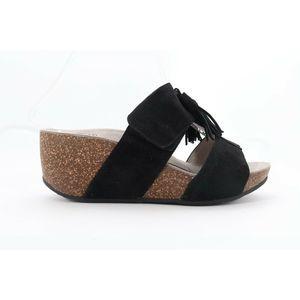 Abeo Uplift Wedges Sandals Black Size 6 (EPB)4373